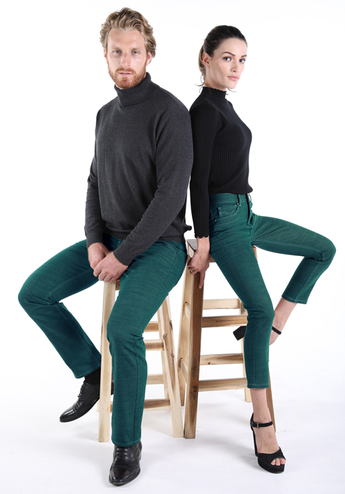 grüne jeans