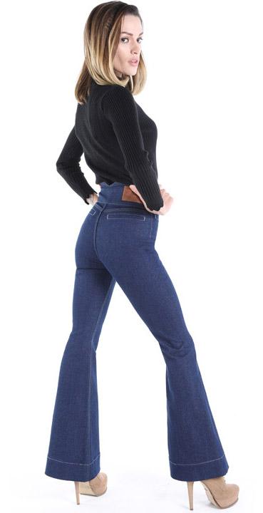 Damen Bootcut Jeans, Massgeschneiderte Jeans