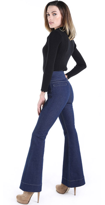 Hight Rise Bootcut Jeans, Damenjeans