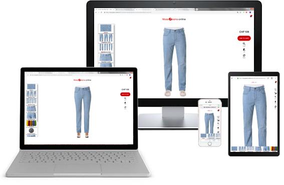 Jeans nach Mass und Wunsch, Konfigurator