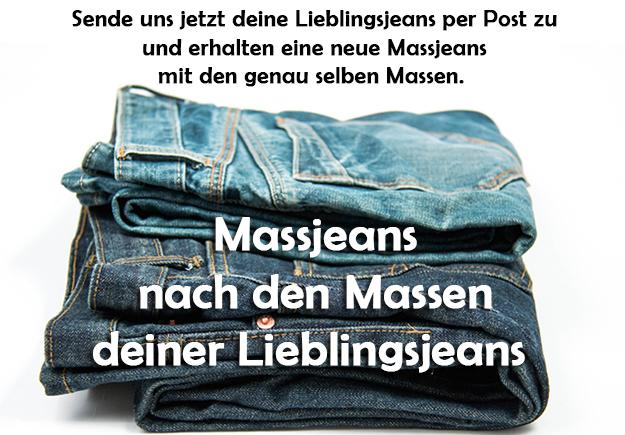 Lieblingsjeans - Massjeans nach den Massen deiner bestehenden Jeans