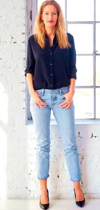 helle jeans kombinieren Damen