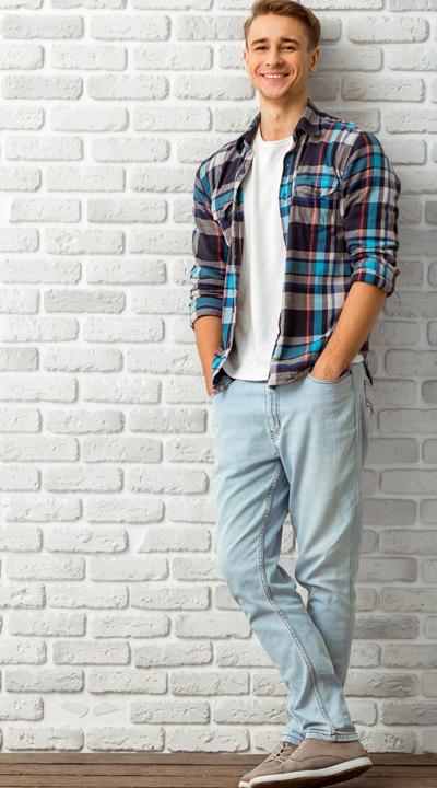 helle jeans kombinieren Herren